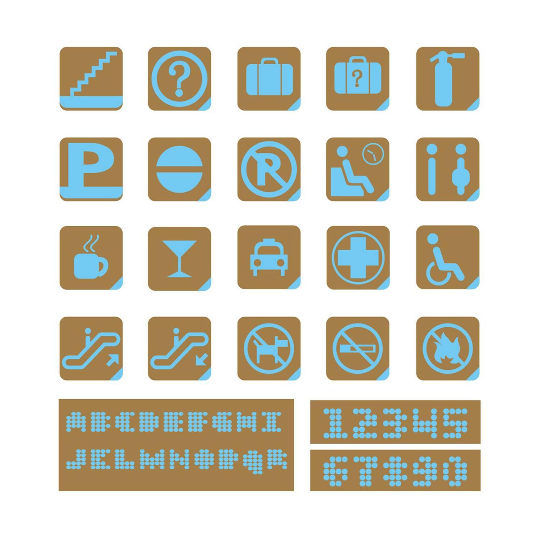 导视 标识 指示 图标 提示 写字楼 餐饮 交通枢纽 医院