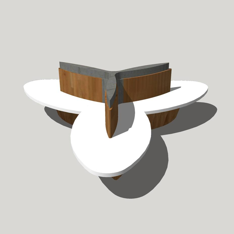 创意坐凳 长凳 现代风格 广场 公园 商业 公共空间 木质 休闲 景观园林模型