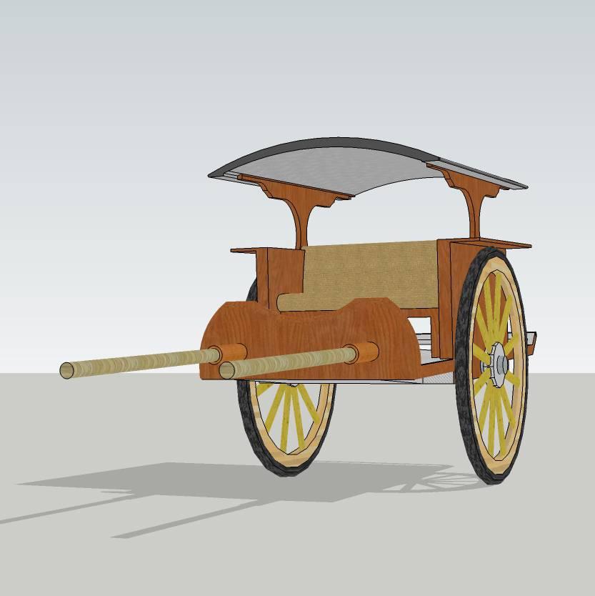马车  欧式马车 交通工具  简约马车  小马车 3D图纸 草图大师模型  3D设计 skp