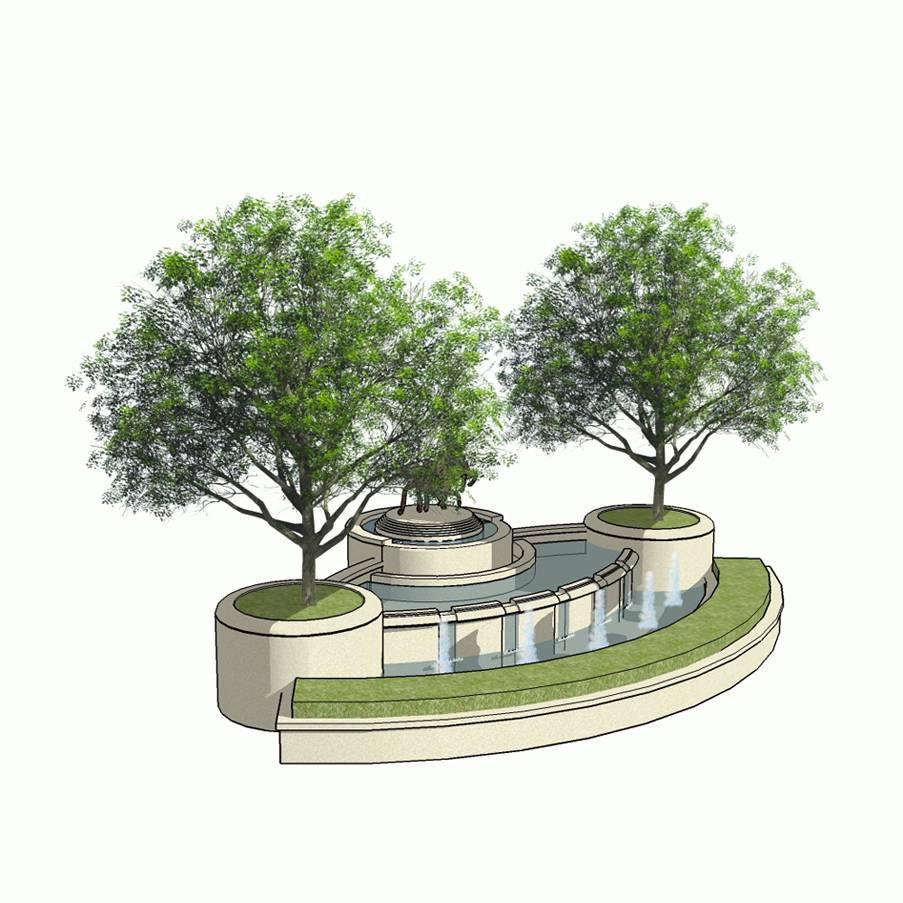 水景 设计 景观 环境设计 建筑园林 建筑模型