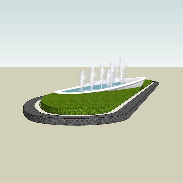 水钵水景  住宅小区 居住区水景 欧式喷泉  花坛景观