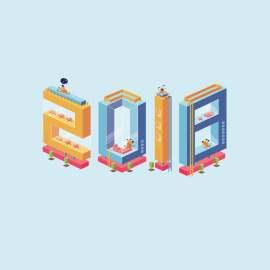 2018卡通3d风格字体设计矢量文件