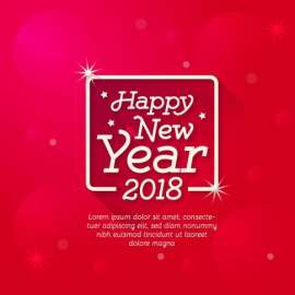 Happy new year  字体设计  新年快乐  2018新年 时尚