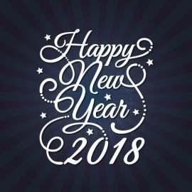 时尚 2018  Happy new year  字体设计  新年快乐