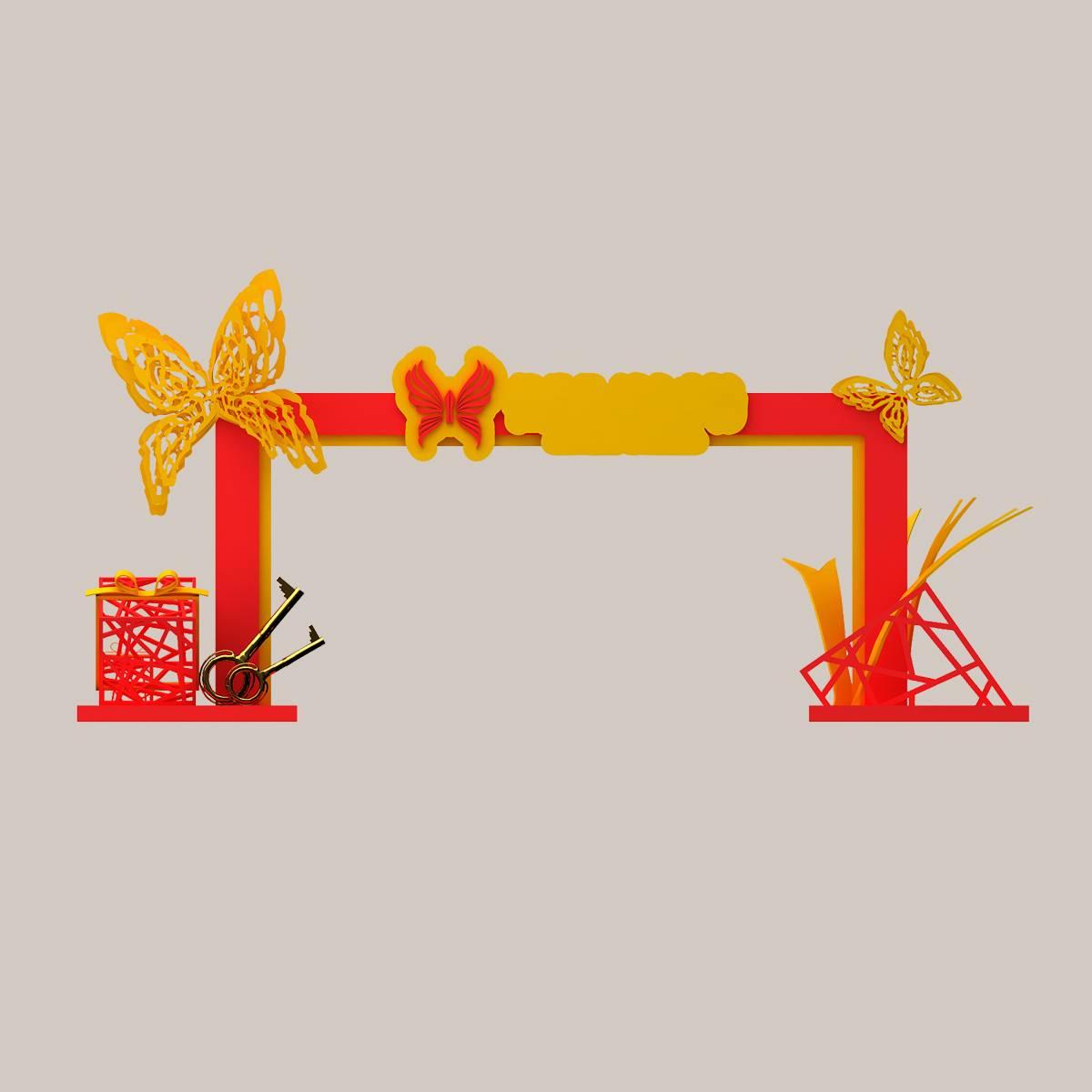 新春大门 节庆门头 过年大门