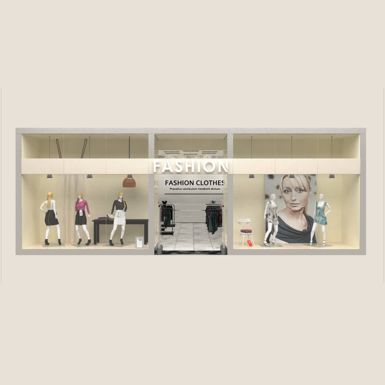 女装店橱窗 时尚橱窗设计 服装店橱窗
