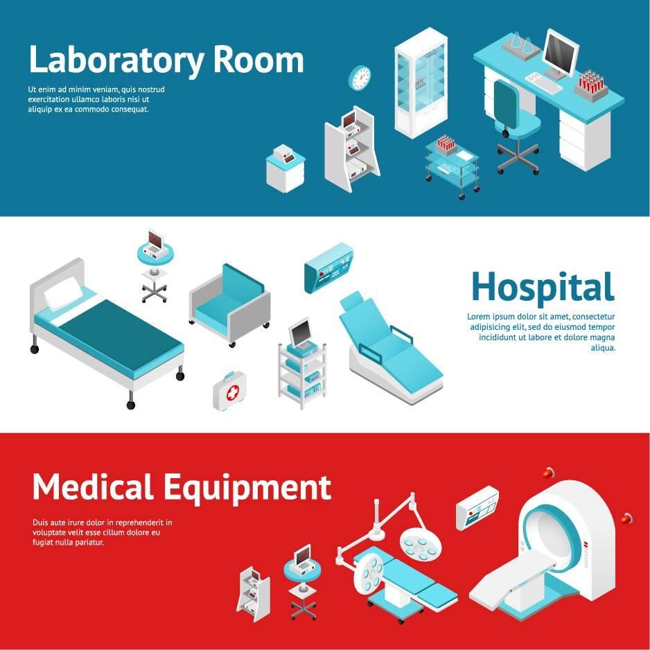 卡通医疗设备 医疗元素 药品 医学研究 医疗主题 卡通医生 医疗卫生