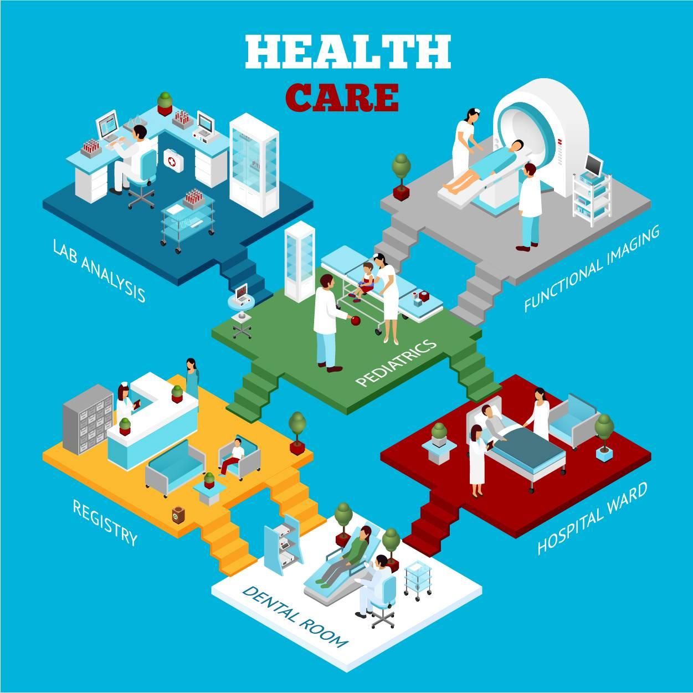医院模型插图设计