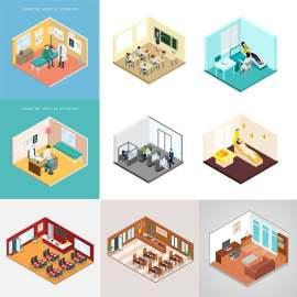 3D 公寓 建筑 装饰设计 房屋设计 插图设计 卡通设计