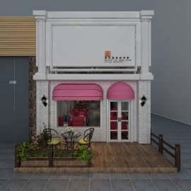 甜品店门头设计 甜品店橱窗设计