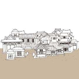 线条化古典建筑设计