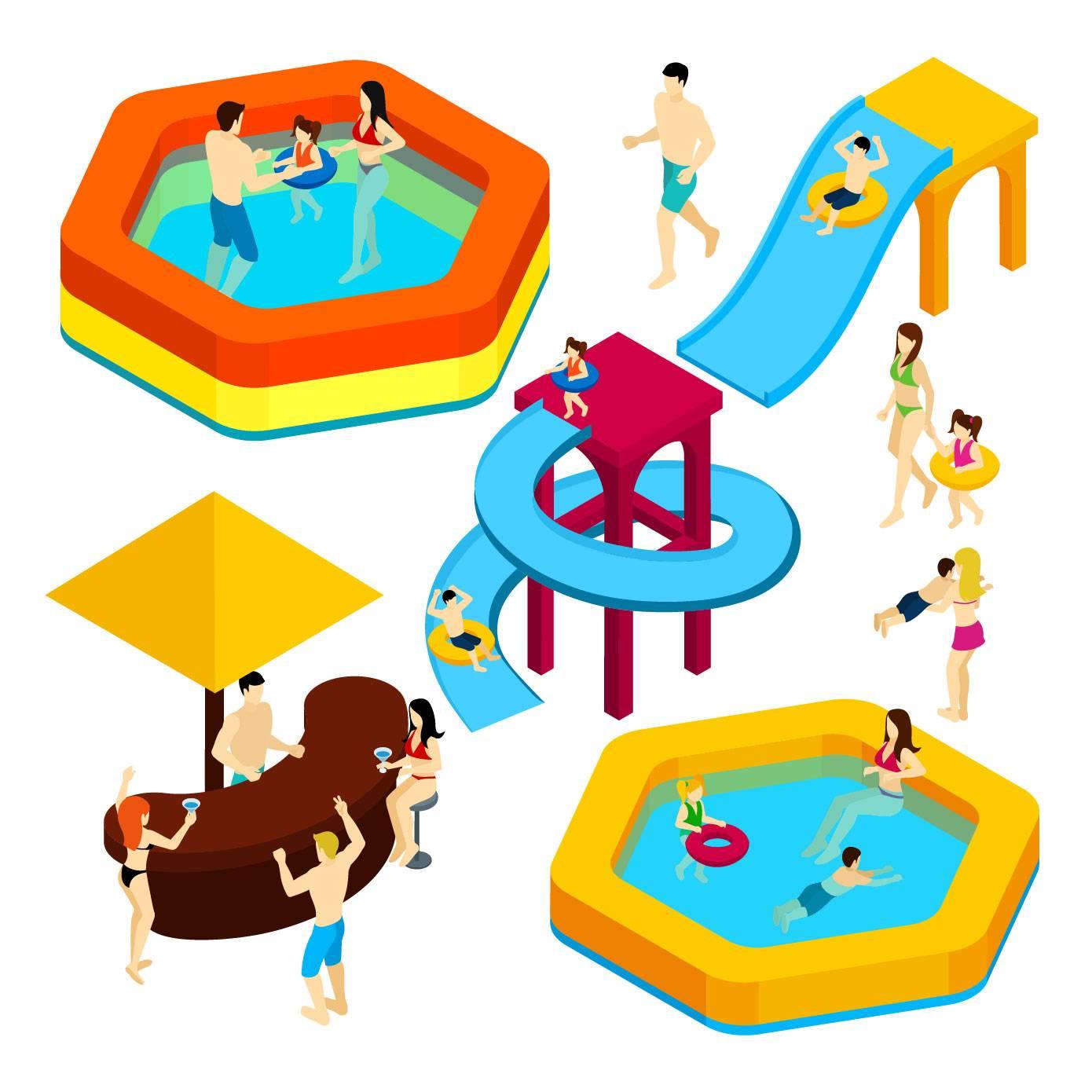 立体卡通游泳池设计