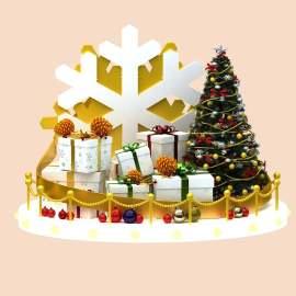 圣诞节雪花美陈DP点