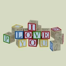 字母积木玩具模型