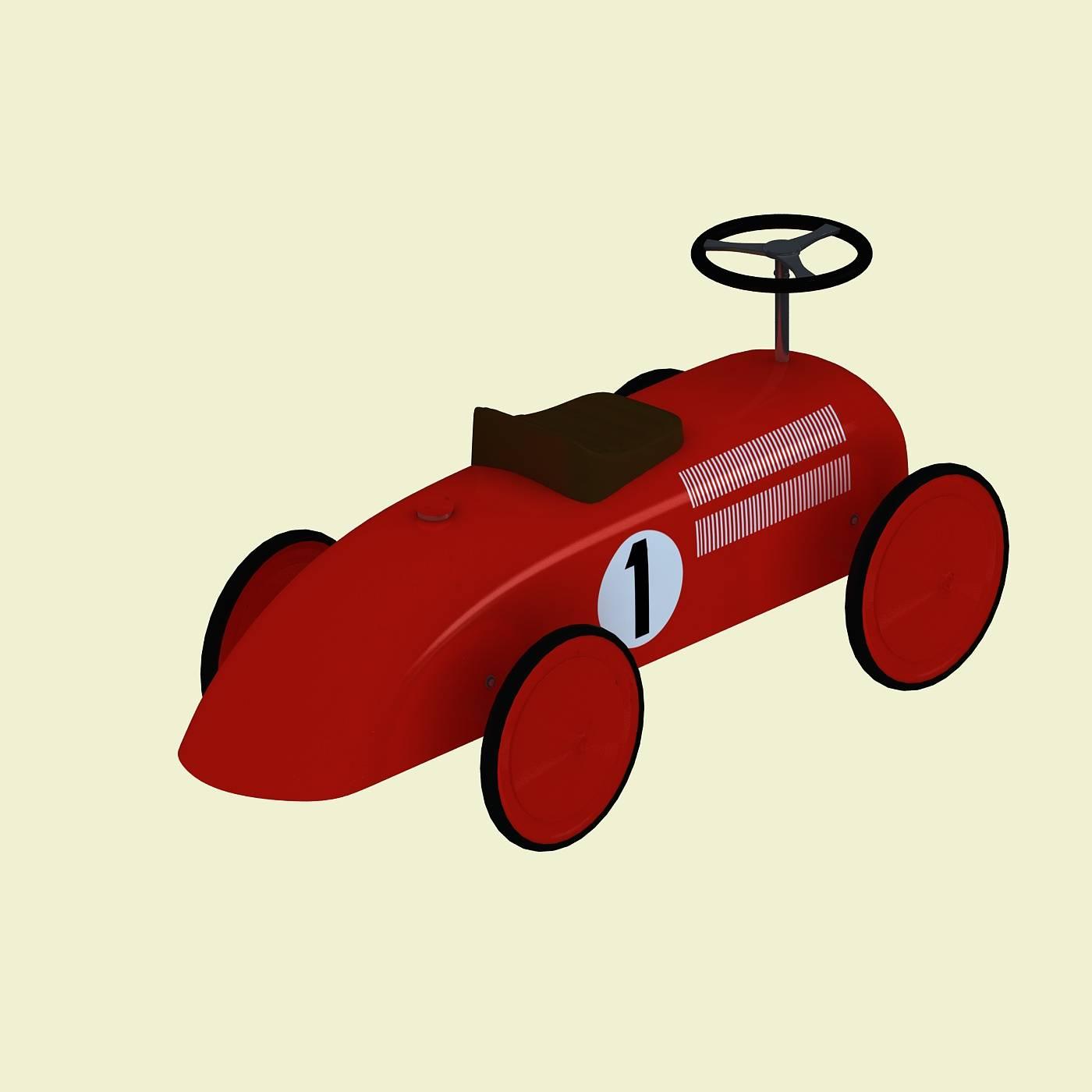 红色玩具车模型