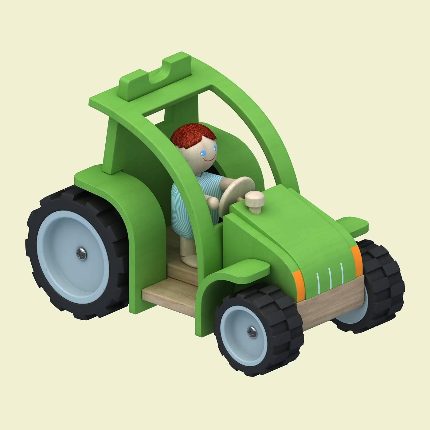 绿色玩具车模型