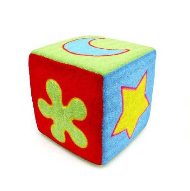 彩色毛绒方块玩具