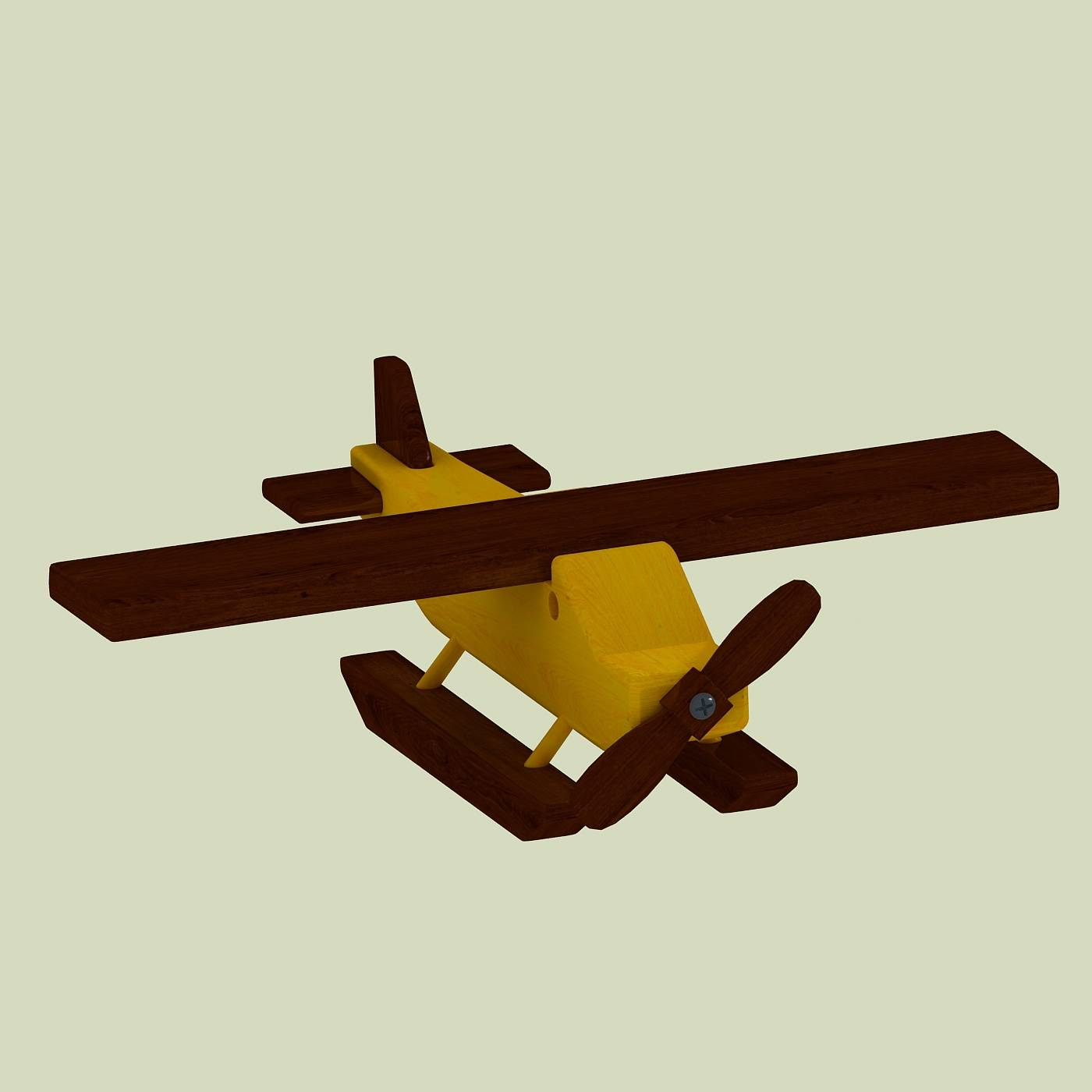 木质玩具飞机模型