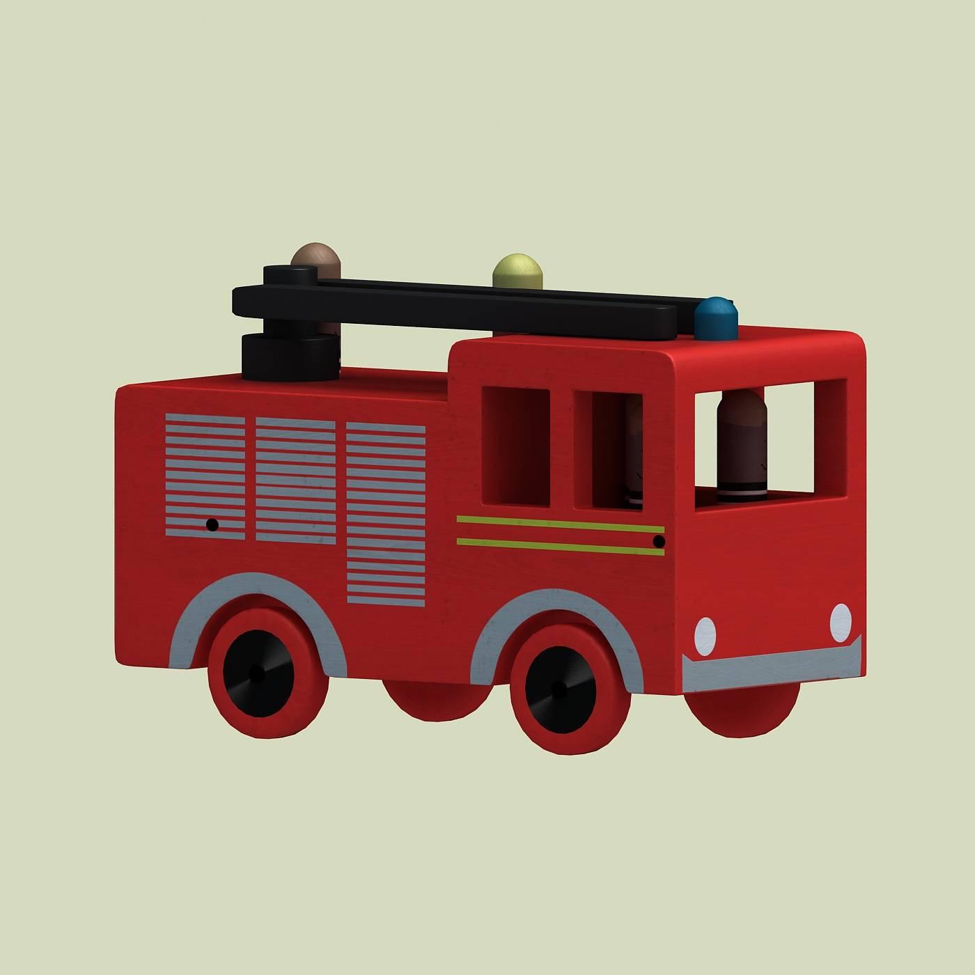 红色小汽车模型