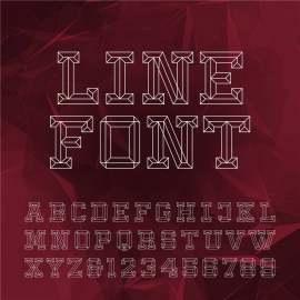 时尚几何拼接字母设计