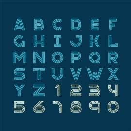 数字字母设计