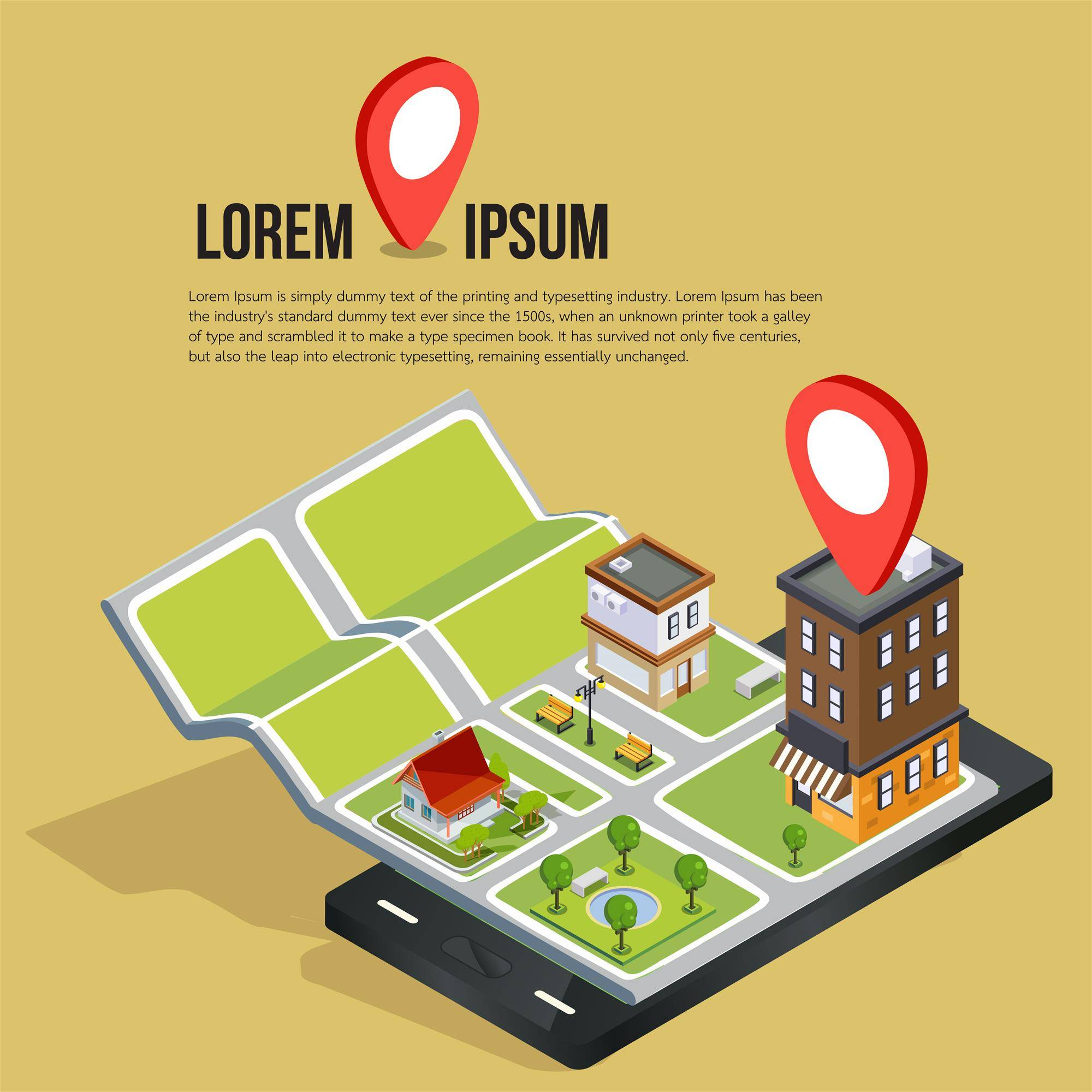 等距3D城市导航地图