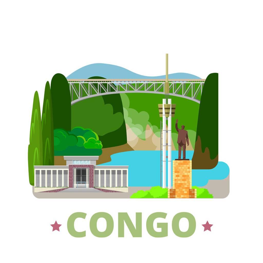 刚果扁平化著名地标建筑