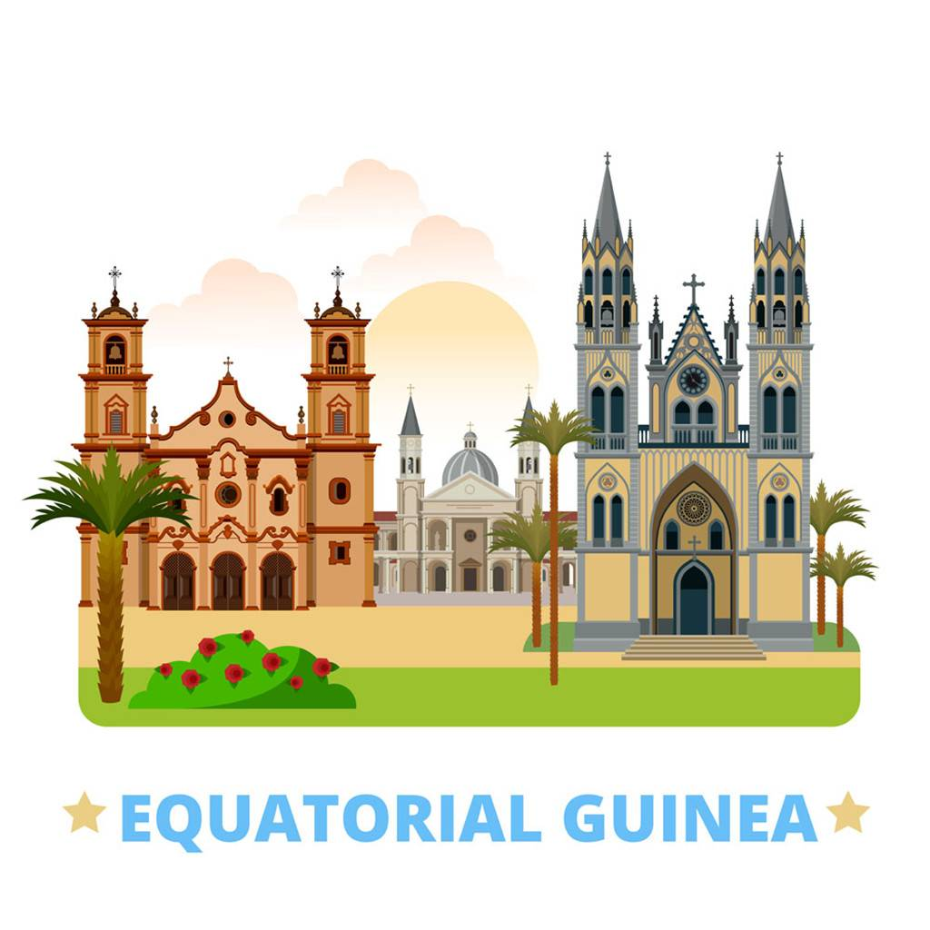 赤道几内亚扁平化著名地标建筑