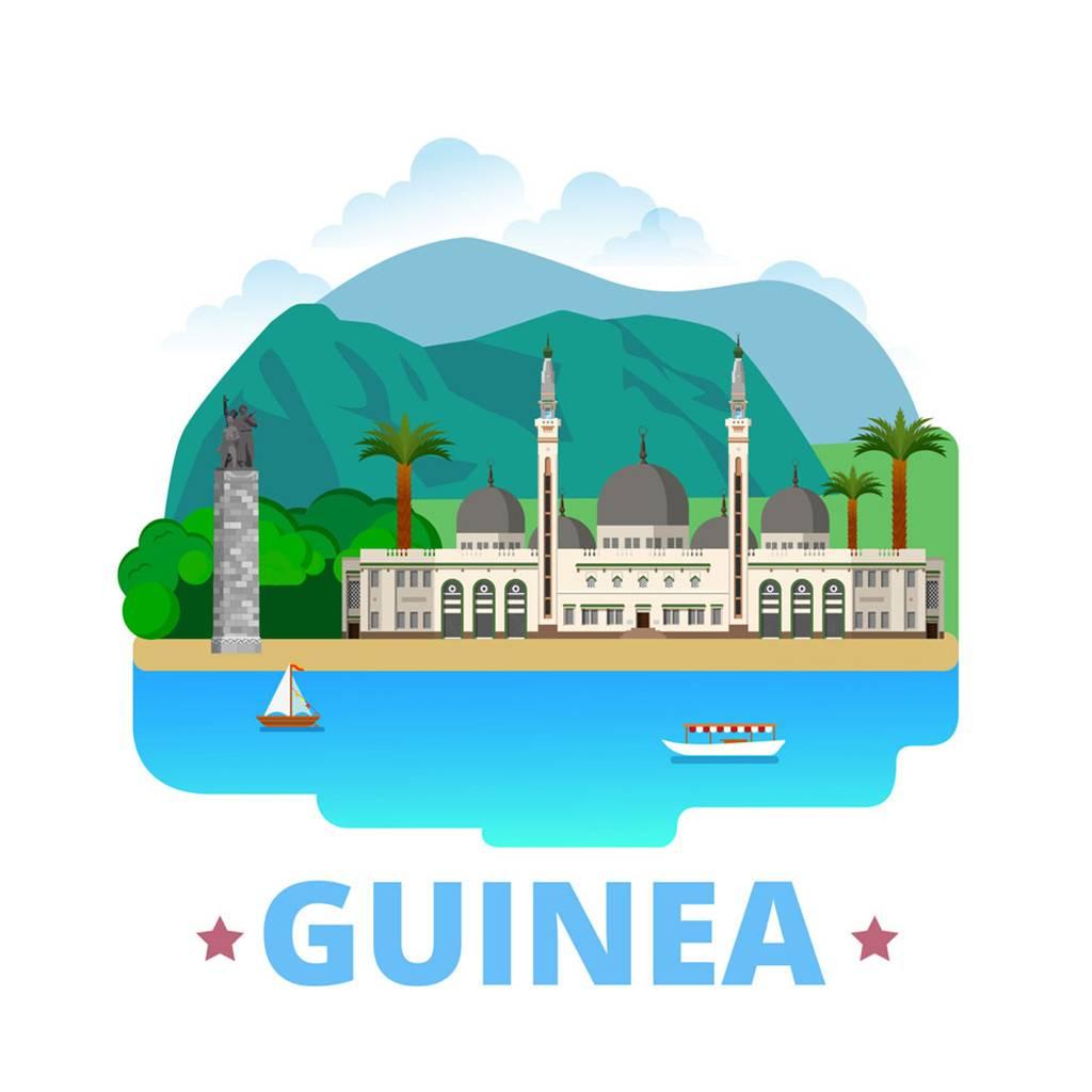 几内亚扁平化著名地标建筑