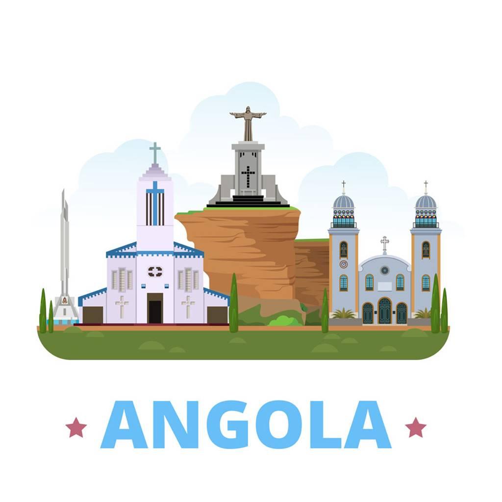 安哥拉扁平化著名地标建筑