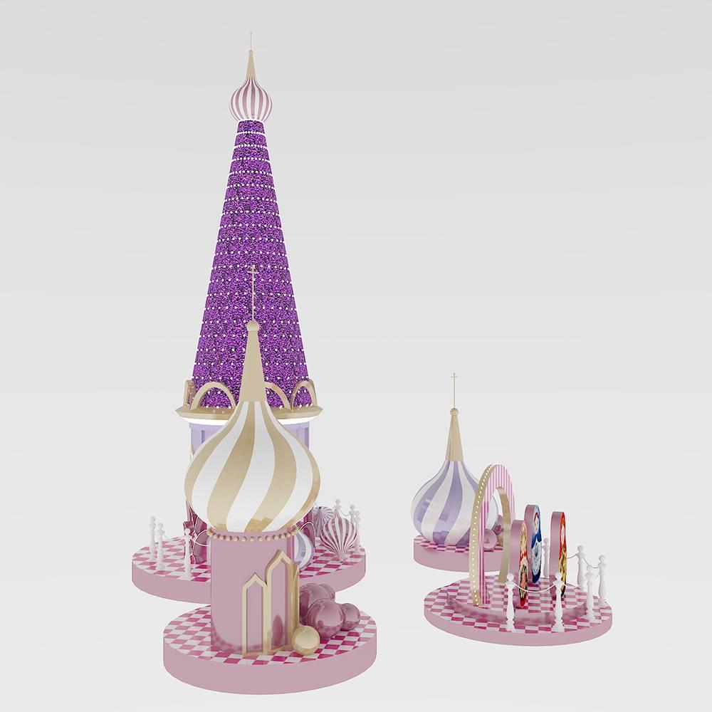 糖果城堡美陈DP