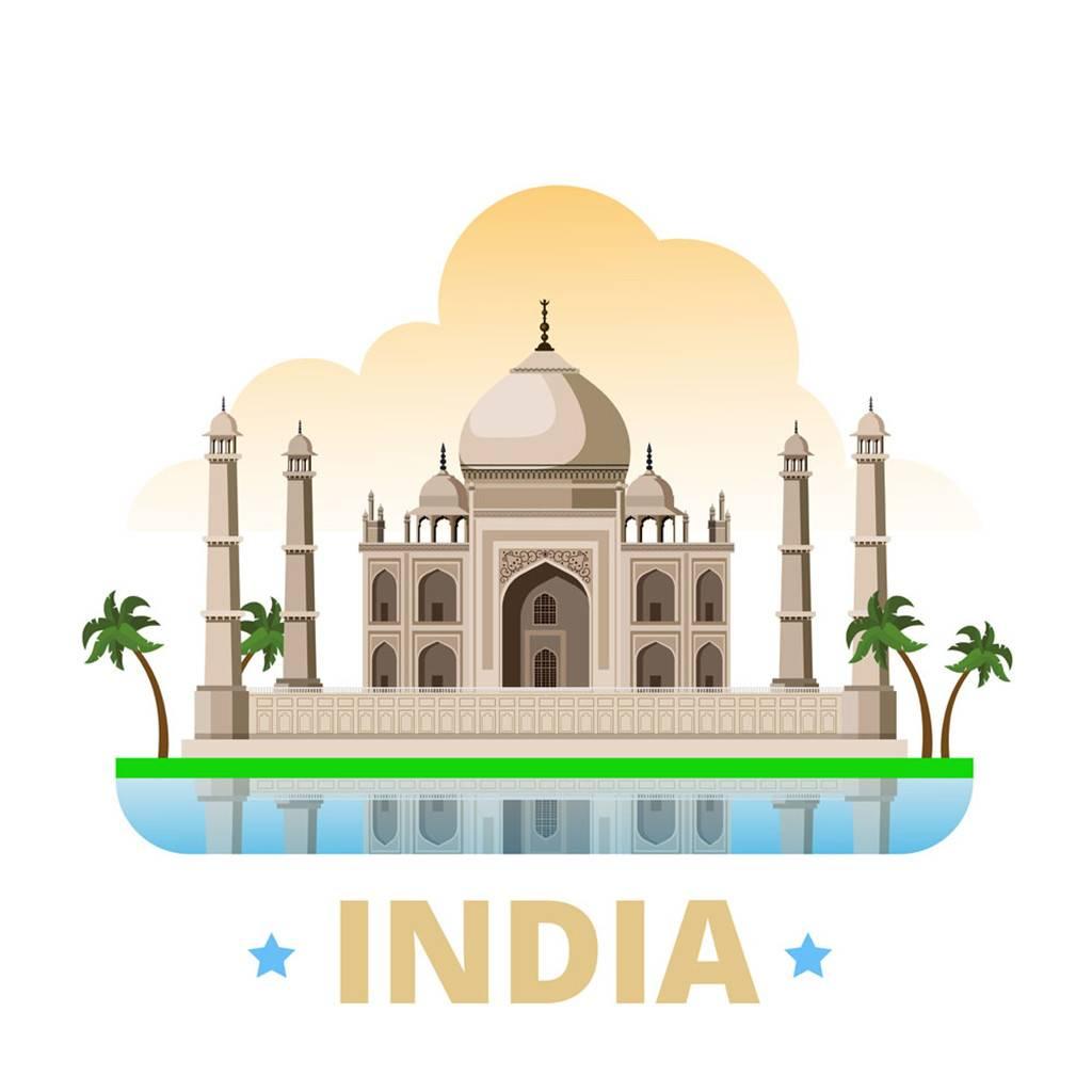 印度扁平化著名地标建筑