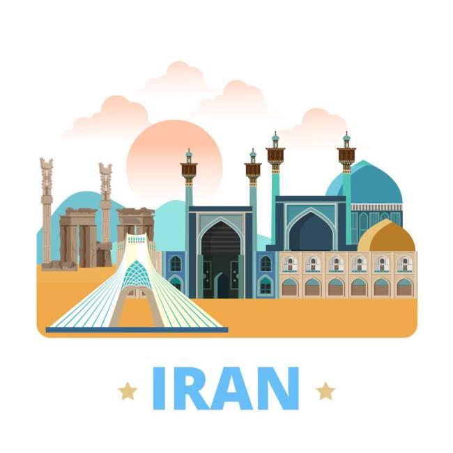 伊朗扁平化著名地标建筑