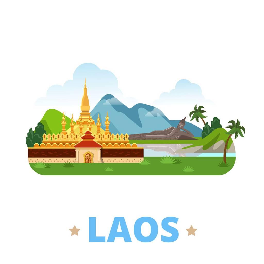 老挝扁平化著名地标建筑