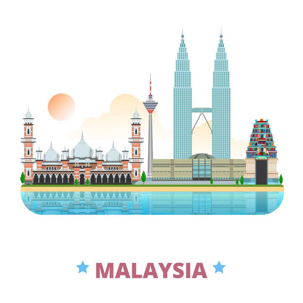 马来西亚扁平化著名地标建筑