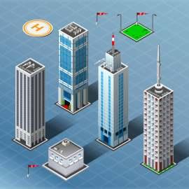 3D高楼建筑