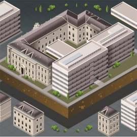 等量欧洲现代建筑