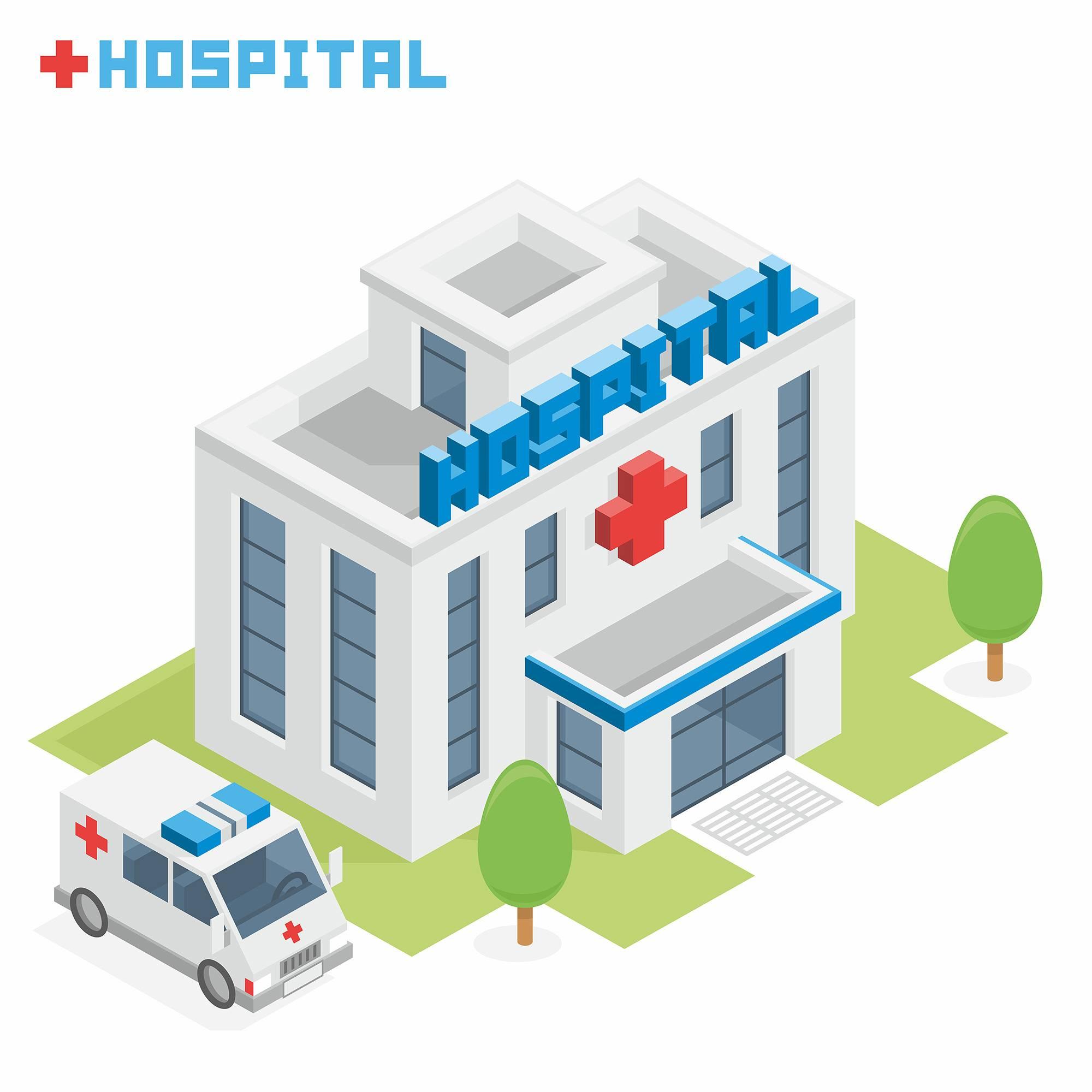 医院3D扁平化创意设计