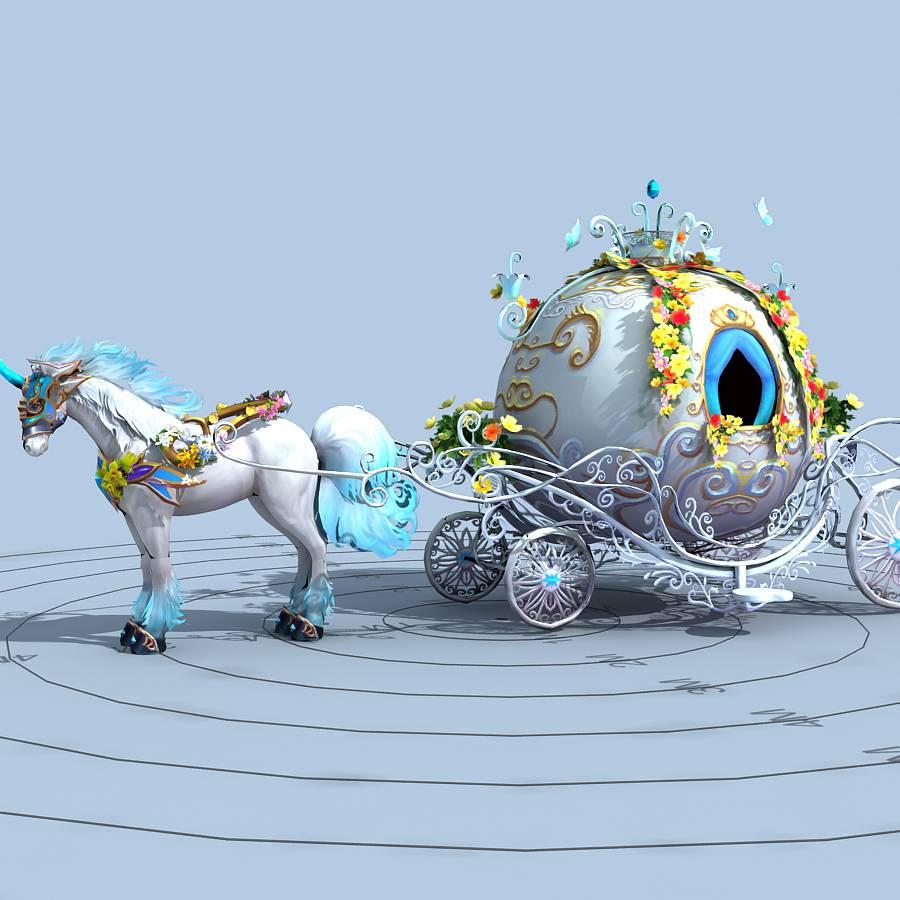 童话马车模型