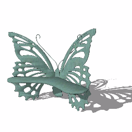 蝴蝶 座椅 美陈 玻璃钢 雕塑