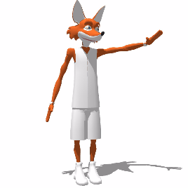 狐狸 雕塑 玻璃钢 美陈 卡通 动漫 景观 展示