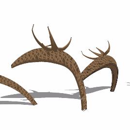鹿 动物 抽象 雕塑 简约 现代 装饰