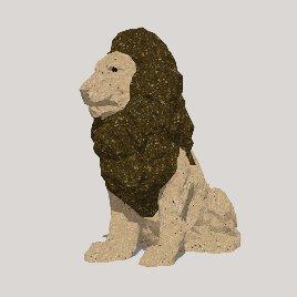 狮子 动物 石雕  小品 摆件 装饰