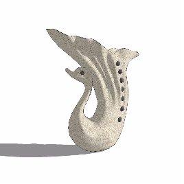 鹅 喷泉 景观 雕塑 鱼尾 个性 摆件 装饰 美陈