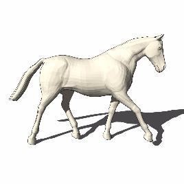 白马 马 动物 雕塑 美陈 摆件 软装