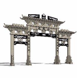 中式 牌坊 古典之四