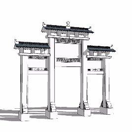 中式 牌坊 古典之十三
