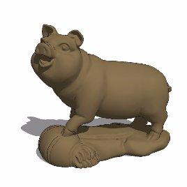十二生肖 猪 动物 雕塑 美陈