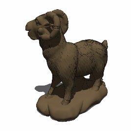 十二生肖 羊 动物 雕塑 美陈