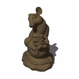 十二生肖 鼠 动物 雕塑 美陈